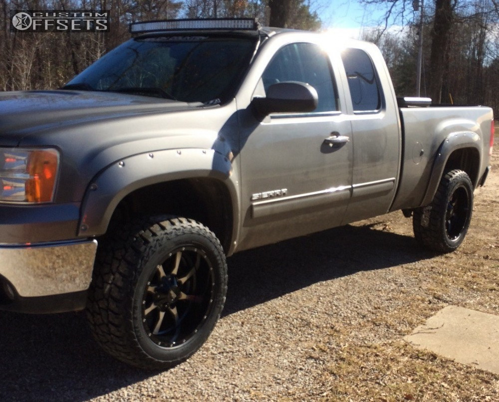 Moto Metal Mo970 20x12 44 Mickey Thompson Baja Atz P3 Lt305 55r20 1955 Ford F100 With Thompsons 1 2008 Sierra 1500 Gmc Suspension Lift 35 Machined Accents Aggressive Outside