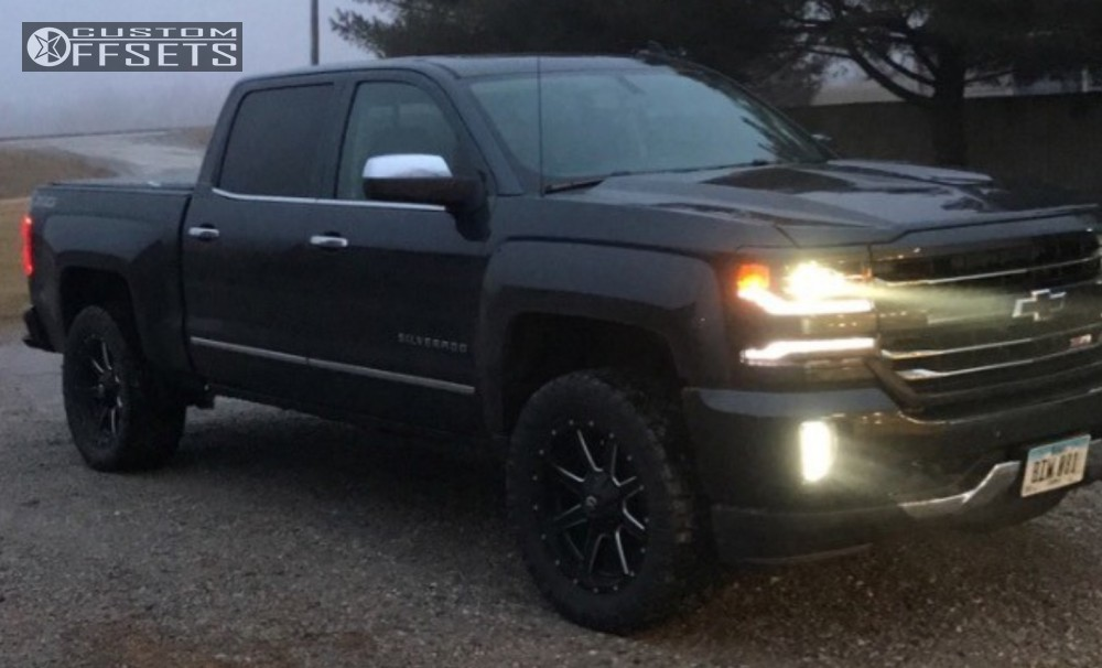 1 2017 Silverado 1500 Chevrolet Leveling Kit Fuel Maverick Black Slightly Aggressive