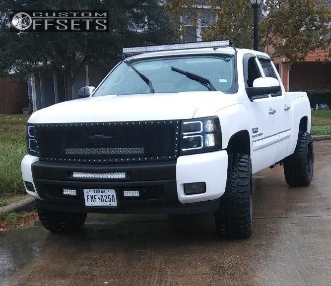 1 2010 Silverado 1500 Chevrolet Suspension Lift 4 Scorpion Sc10 Machined Black Slightly Aggressive