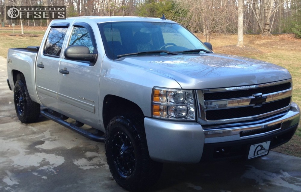 1 2010 Silverado 1500 Chevrolet Leveling Kit Fuel Hostage Black Slightly Aggressive