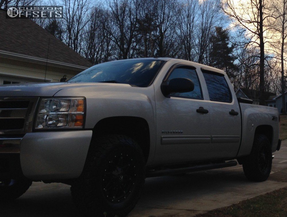 2 2010 Silverado 1500 Chevrolet Leveling Kit Fuel Hostage Black Slightly Aggressive