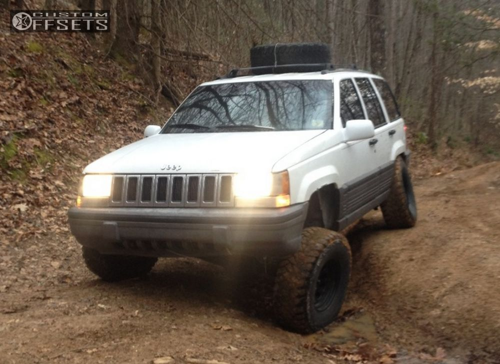 ... 1 1995 Grand Cherokee Jeep Suspension Lift 35 Cragar D Window Black  Aggressive 1 Outside Fender ...