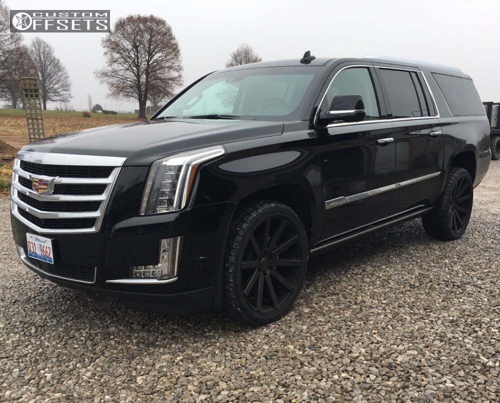 1 2017 Escalade Esv Cadillac Stock Dub Shot Calla Black Flush