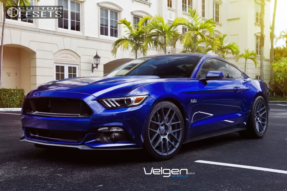 2015 Mustang Custom Wheels >> Wheel Offset 2015 Ford Mustang Flush Lowered On Springs