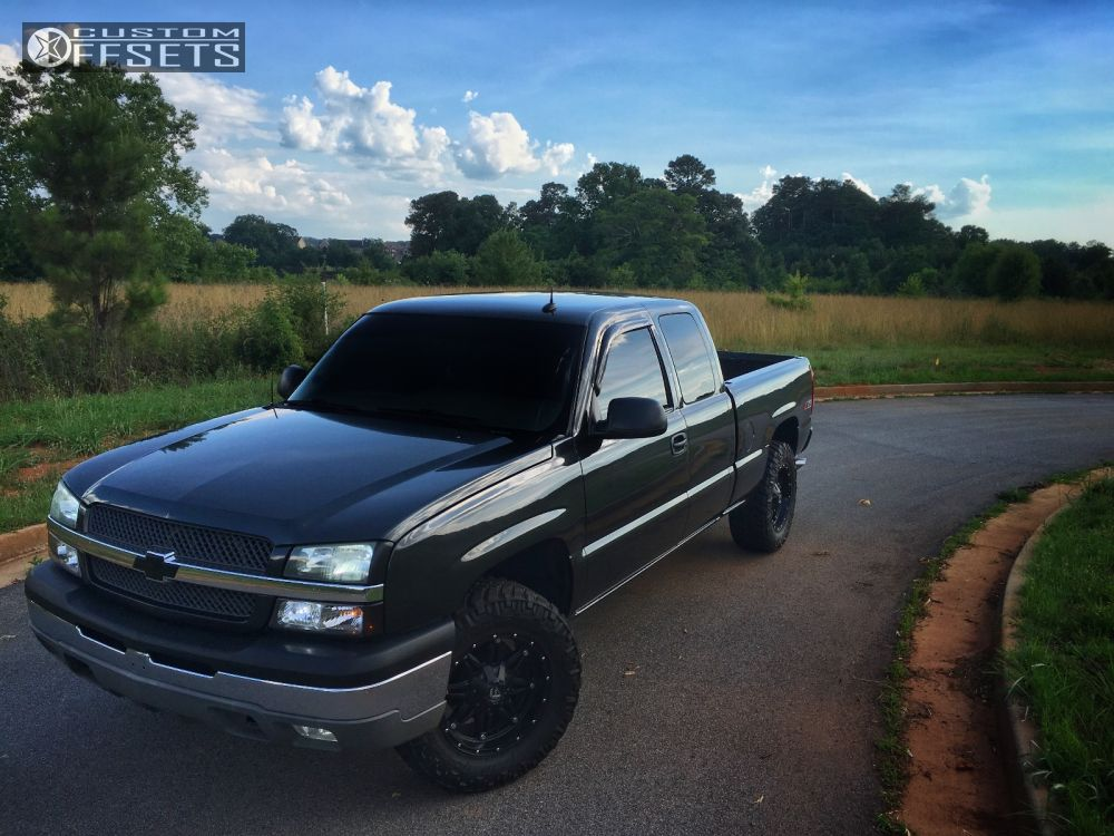 1 2003 Silverado 1500 Chevrolet Leveling Kit Fuel Hostage Black Slightly Aggressive