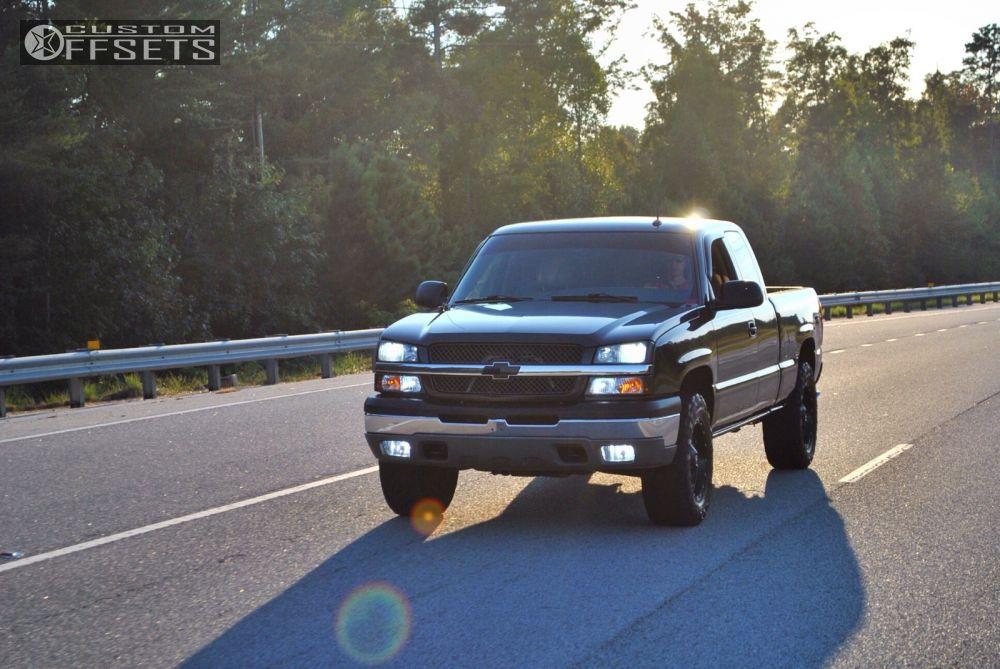 6 2003 Silverado 1500 Chevrolet Leveling Kit Fuel Hostage Black Slightly Aggressive