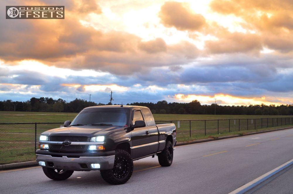 7 2003 Silverado 1500 Chevrolet Leveling Kit Fuel Hostage Black Slightly Aggressive