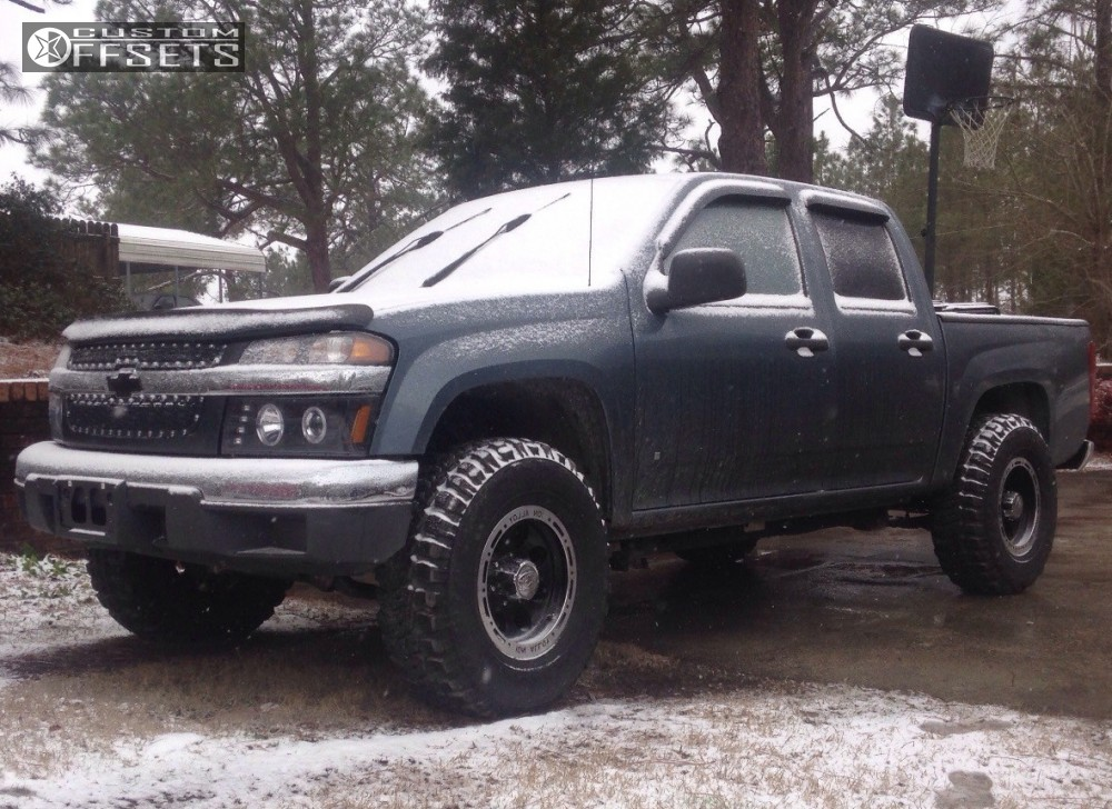 1 2006 Colorado Chevrolet Leveling Kit Body Lift Alloy Ion 002 Dually Black Aggressive 1 Outside Fender