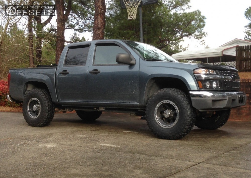 12 2006 Colorado Chevrolet Leveling Kit Body Lift Alloy Ion 002 Dually Black Aggressive 1 Outside Fender
