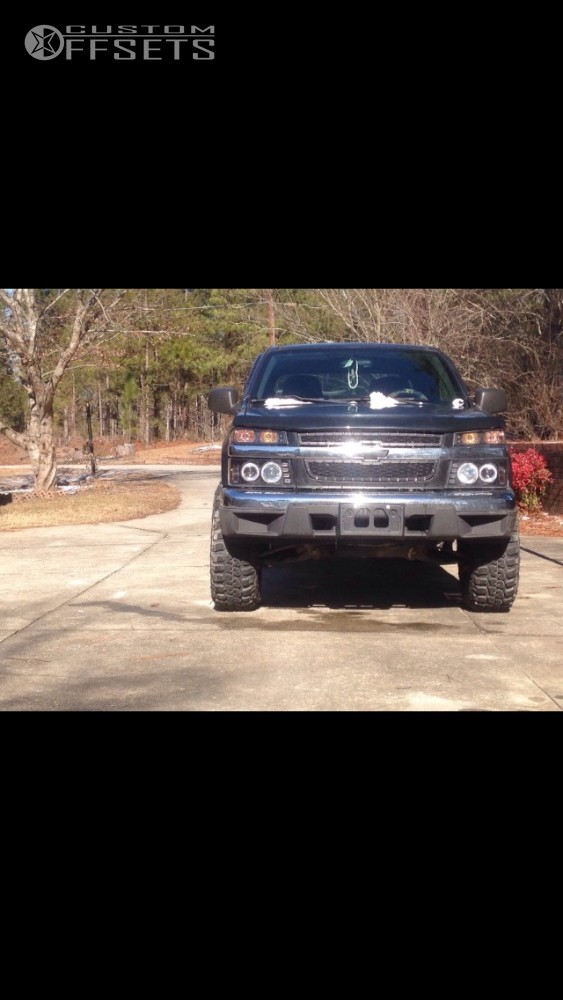 2 2006 Colorado Chevrolet Leveling Kit Alloy Ion Style 174 Black Machined Aggressive 1 Outside Fender