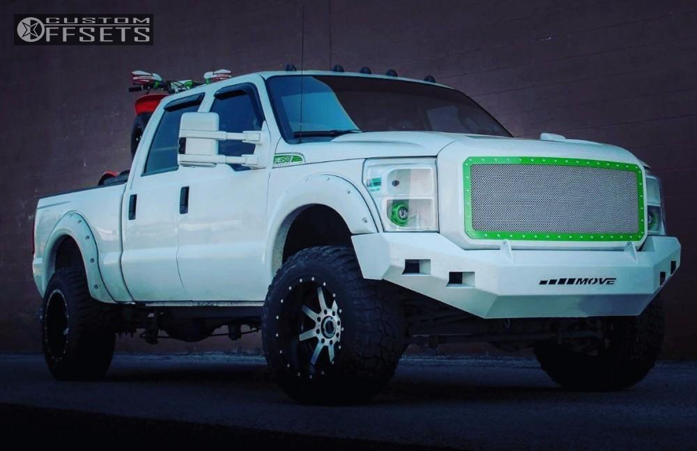 1 2013 F 350 Super Duty Ford Leveling Kit Fuel Maverick Machined Black Super Aggressive 3 5