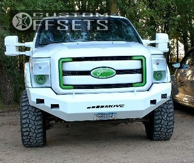 2 2013 F 350 Super Duty Ford Leveling Kit Fuel Maverick Machined Black Super Aggressive 3 5