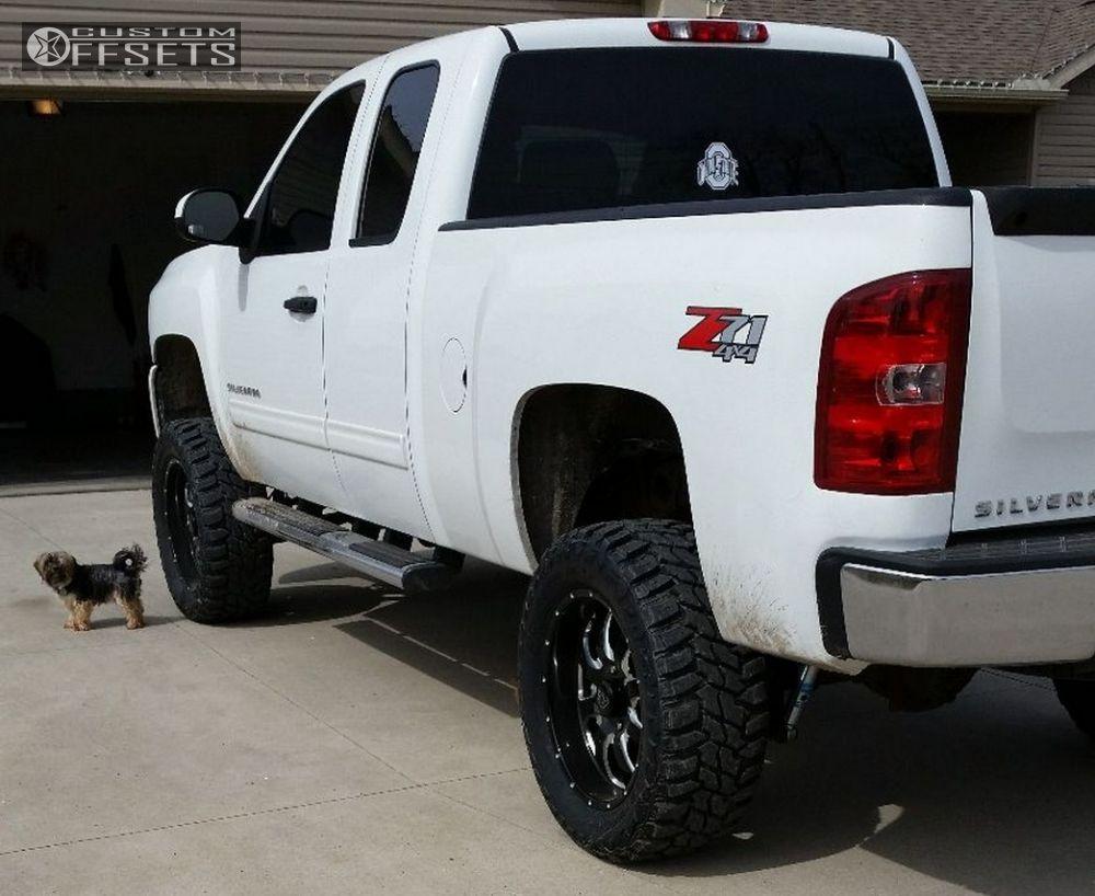 1 2010 Silverado 1500 Chevrolet Suspension Lift 6 American Eagle 014 Machined Accents Super Aggressive 3 5