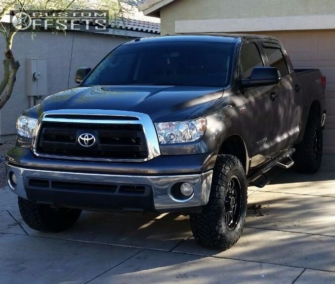 9 2013 Tundra Toyota Suspension Lift 3 Gear Alloy Big Block Black Aggressive 1 Outside Fender