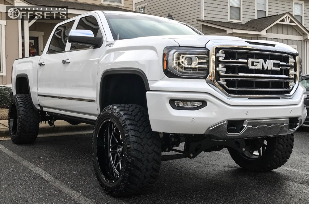 1 2016 Sierra 1500 Gmc Suspension Lift 6 Hostile Sprocket Machined Accents Super Aggressive 3 5