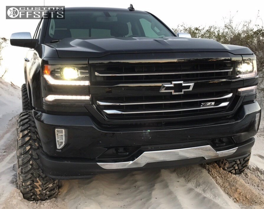 Wheel Offset 2017 Chevrolet Silverado 1500 Super Aggressive 3 5