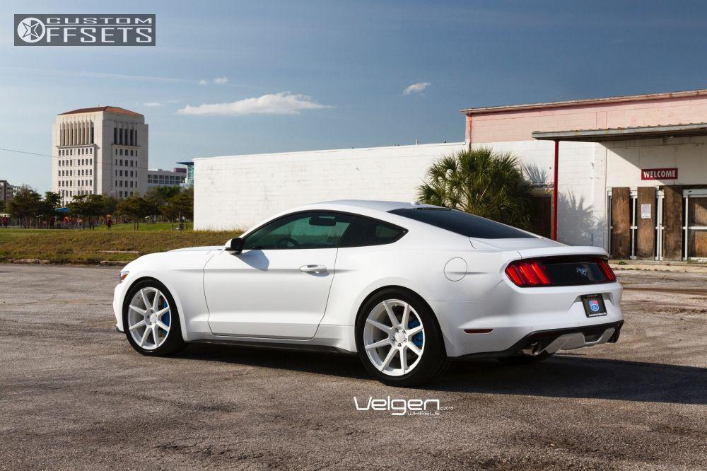 2015 Mustang Wheels >> Wheel Offset 2015 Ford Mustang Flush Stock Custom Rims
