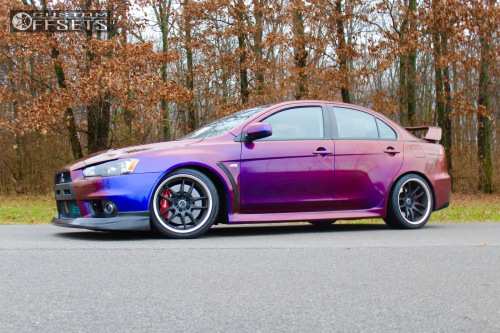 1 2013 lancer mitsubishi coilovers worx emotion custom flush