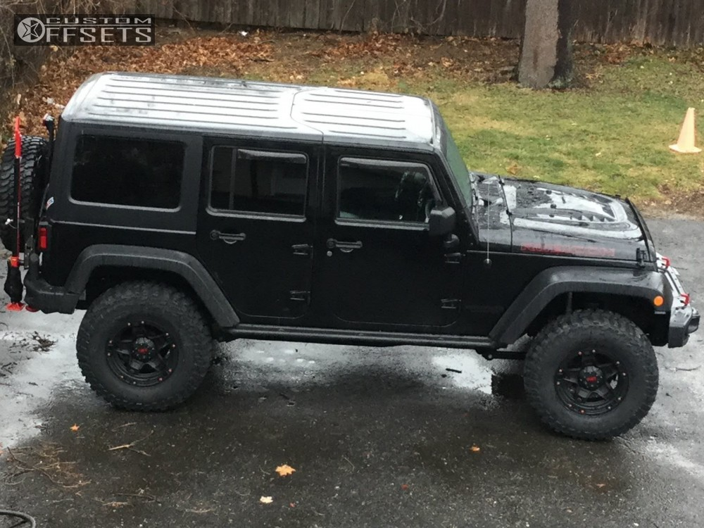 1 2014 Wrangler Jeep Body Lift 3 Tuff T10 Matte Black Super Aggressive 3 5