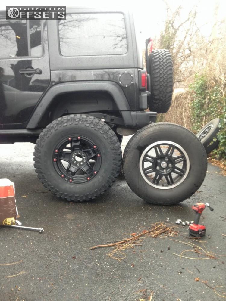10 2014 Wrangler Jeep Body Lift 3 Tuff T10 Matte Black Super Aggressive 3 5