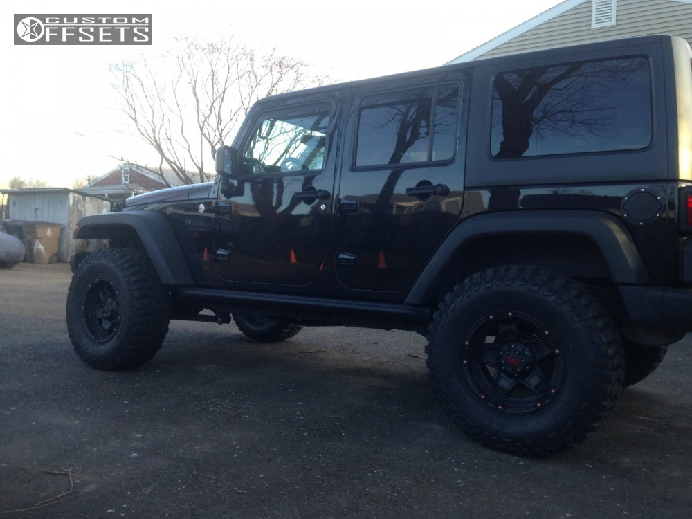 4 2014 Wrangler Jeep Body Lift 3 Tuff T10 Matte Black Super Aggressive 3 5