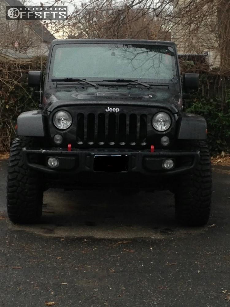 9 2014 Wrangler Jeep Body Lift 3 Tuff T10 Matte Black Super Aggressive 3 5