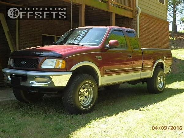 1 1998 F 150 Ford Body Lift 3 Eagle Alloy Series 197 Chrome Hellaflush