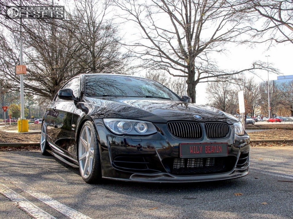 1 2012 335is Bmw Coilovers Rohana Rc7 Silver Nearly Flush