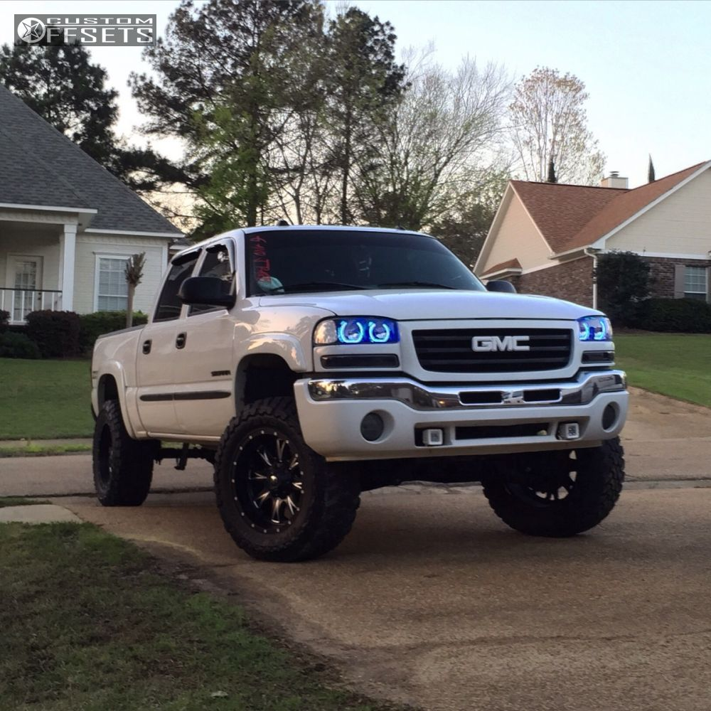 1 2005 sierra 1500 gmc suspension lift 6 fuel throttle machined accents aggressive 1 outside fender