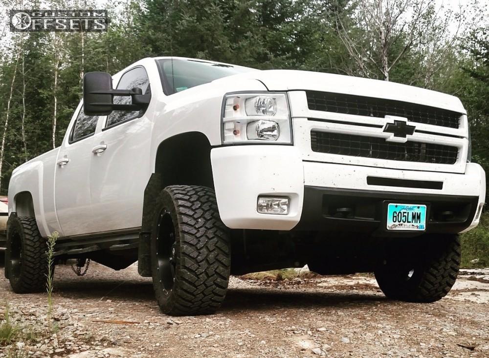 1 2008 Silverado 2500 Hd Chevrolet Suspension Lift 4 Fuel Hostage Black Aggressive 1 Outside Fender