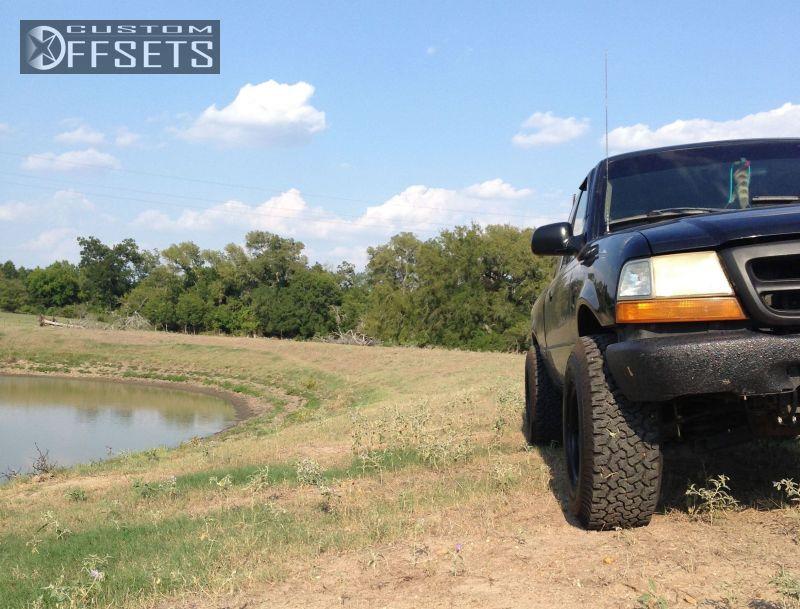 Wheel Offset 1999 Ford Ranger Super Aggressive 3 Suspension Lift 3 Custom Rims