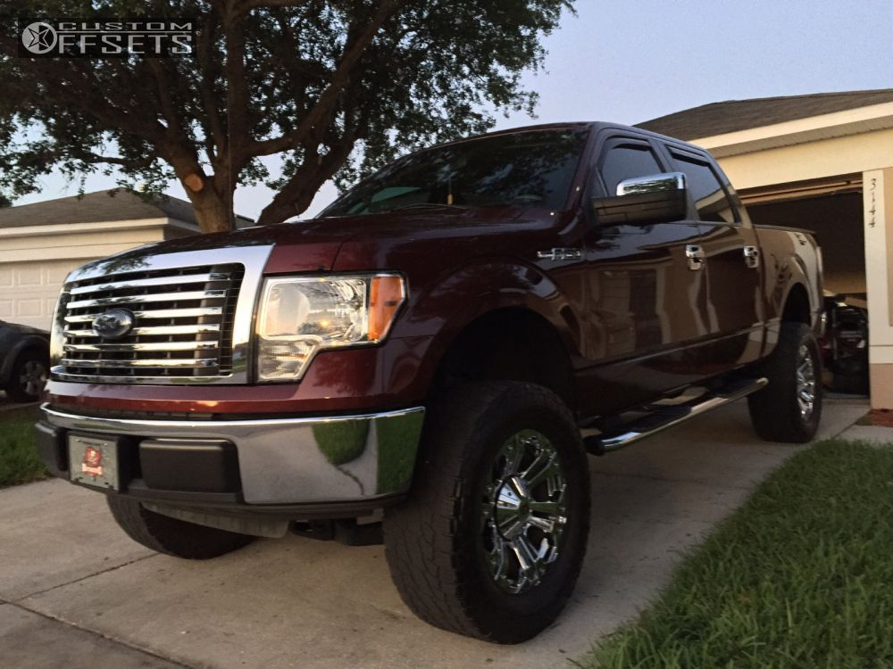 """2010 Ford F-150 Aggressive > 1"""" outside fender on 20x9 18 offset XD Monster and 325/60 Nitto Terra Grappler G2 on Suspension Lift 6"""" - Custom Offsets Gallery"""