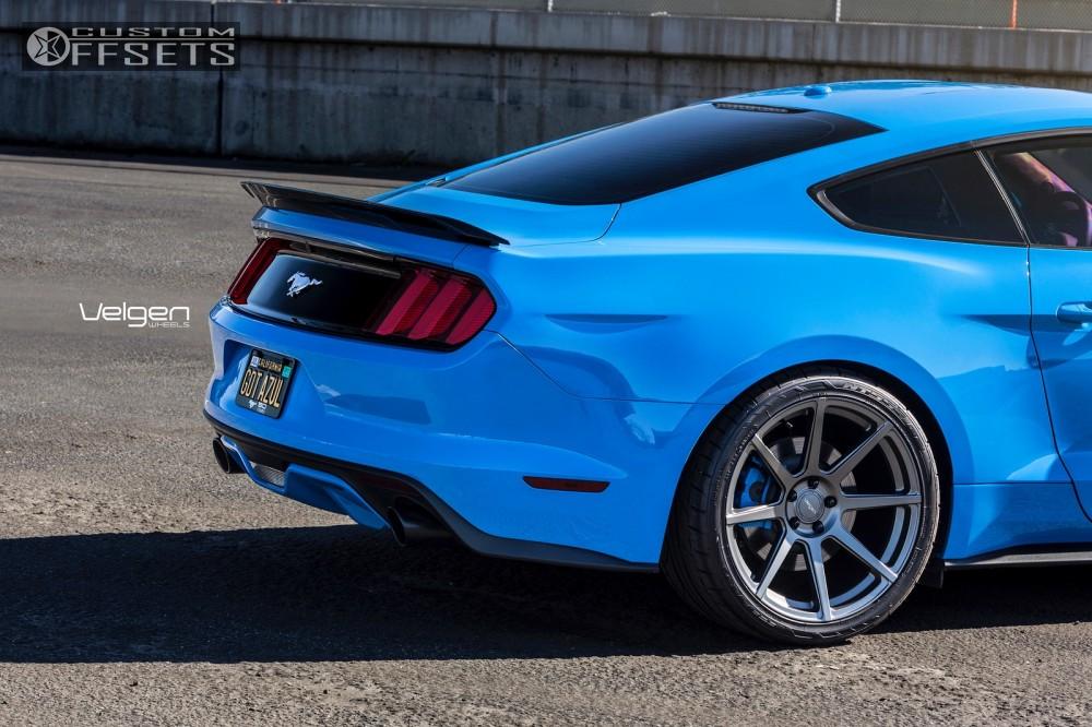 4 2017 Mustang Ford Stock Velgen Wheels Clic5 Gunmetal Flush