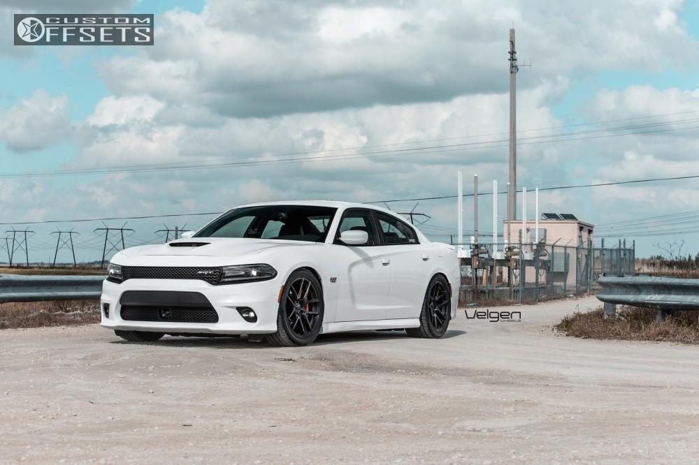 3 2016 Charger Dodge Lowered Adj Coil Overs Velgen Wheels Vmb5 Black Flush