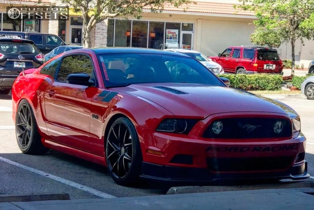 2013 Ford Mustang Niche Misano Steeda Lowering Springs