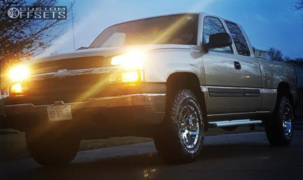 All Terrain Truck Tires >> 2005 Chevrolet Silverado 1500 Moto Metal 951 Rancho Leveling Kit Body Lift Custom Offsets
