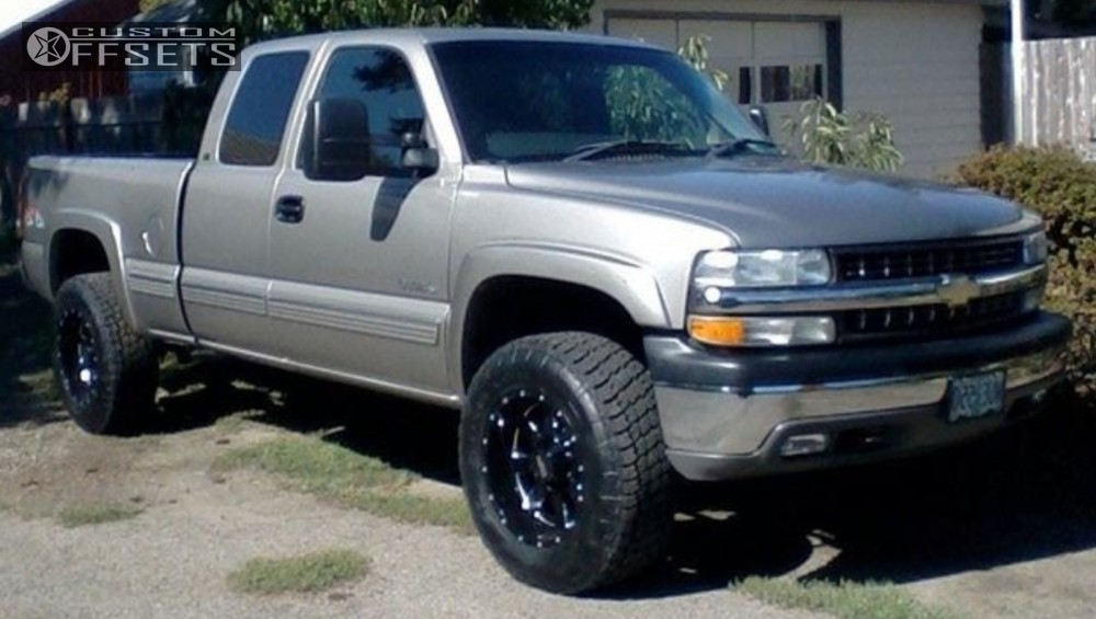 1999 Chevrolet Silverado 2500 Wheel Offset Slightly Aggressive Leveling Kit 175567 Team Stance