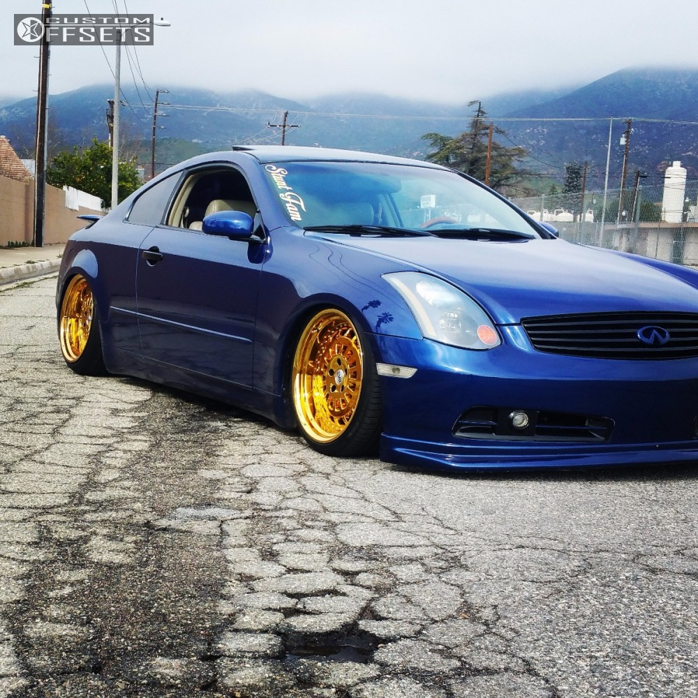 All Types infinity g35 2003 : Wheel Offset 2003 Infiniti G35 Tucked Bagged