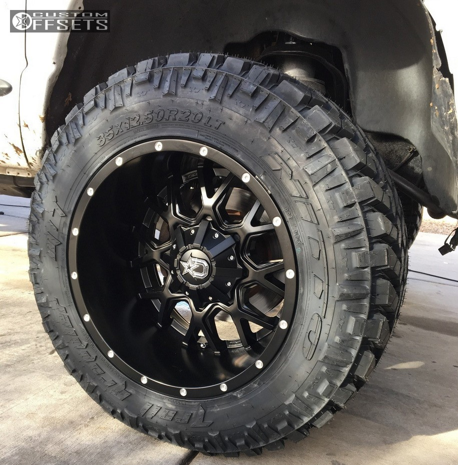 Wheel Offset 2006 Dodge Ram 3500 Aggressive 1 Outside ...