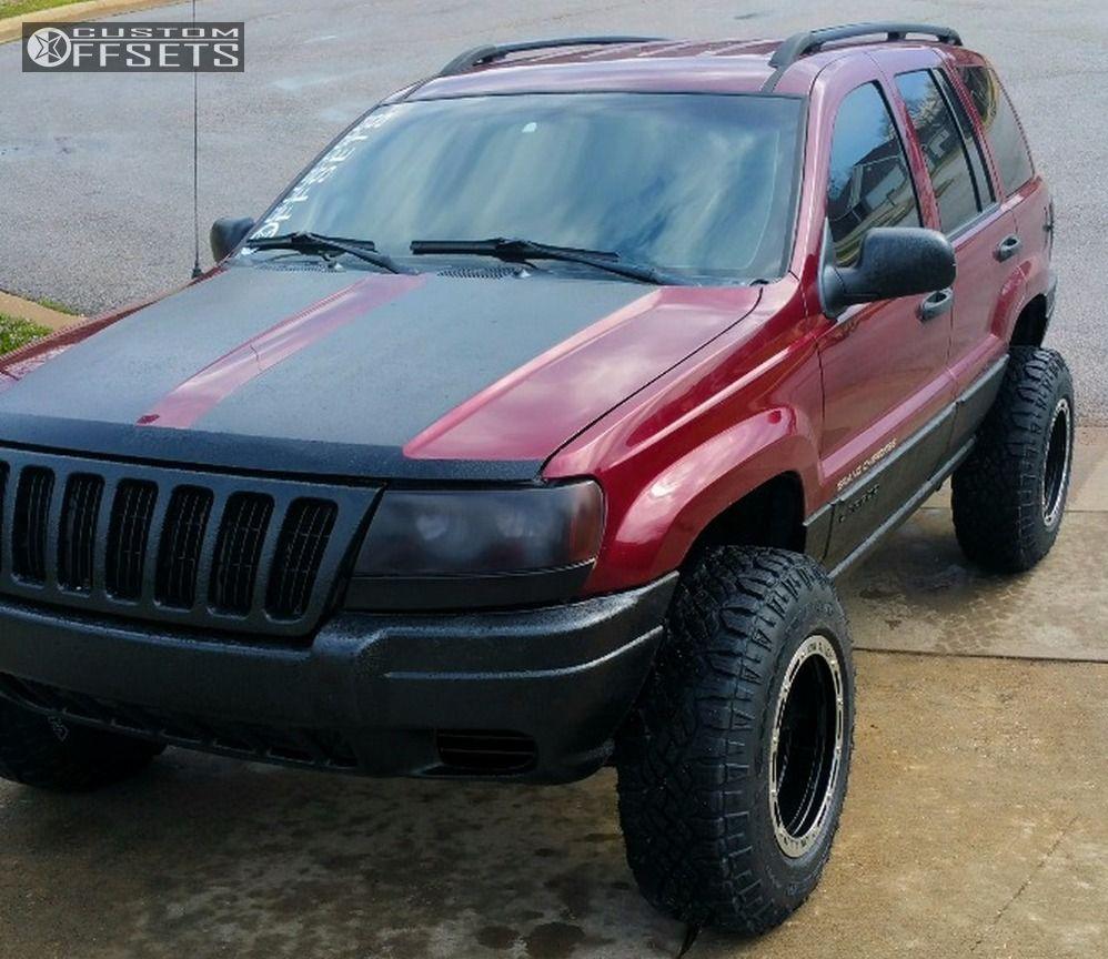 1 2002 Grand Cherokee Jeep Suspension Lift 3 Alloy Ion Style 133 Black Super Aggressive 3 5
