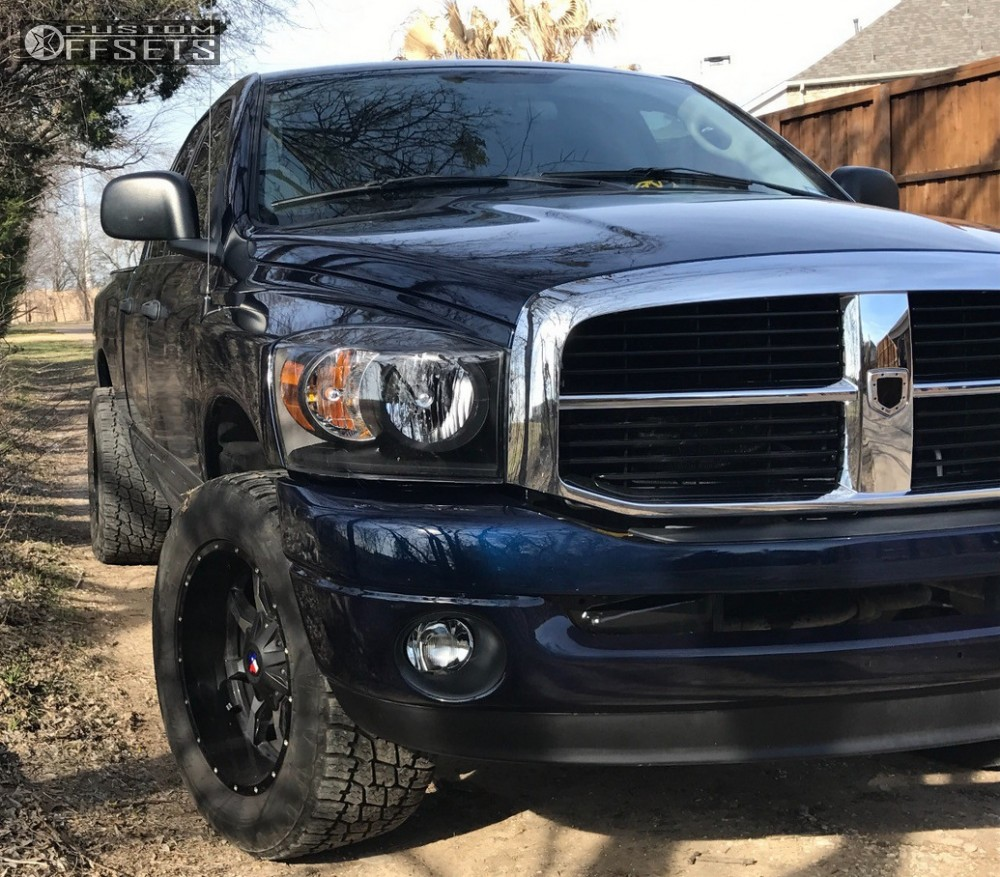 1 2006 Ram 1500 Dodge Leveling Kit Moto Metal Mo970 Black Slightly Aggressive