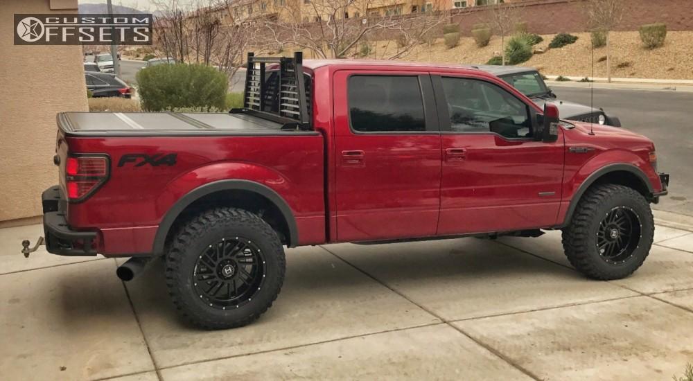 12 2014 F 150 Ford Leveling Kit Hostile Stryker Black Aggressive 1 Outside Fender