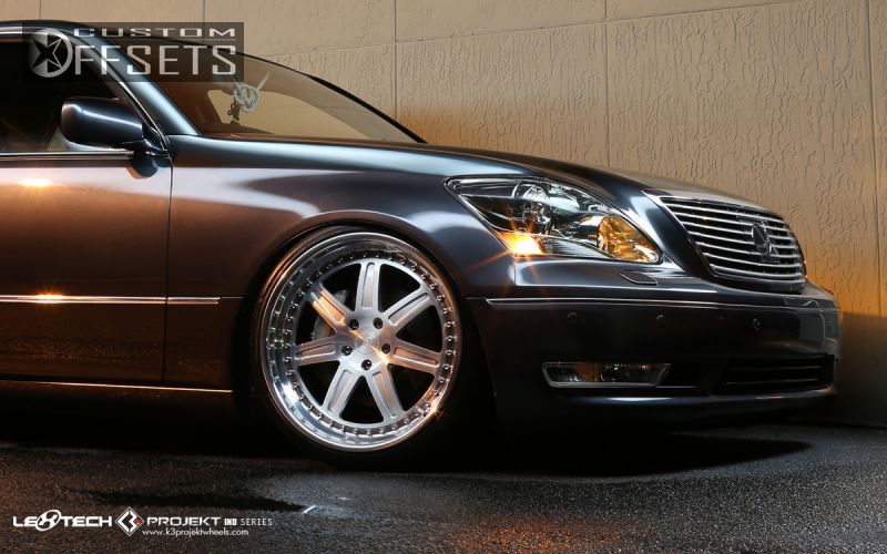 wheel offset 2006 lexus ls 430 tucked bagged custom rims. Black Bedroom Furniture Sets. Home Design Ideas