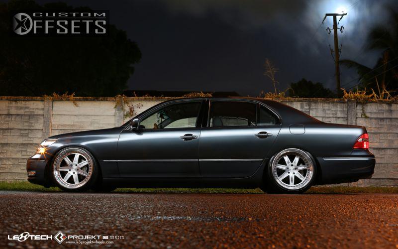wheel offset 2006 lexus ls430 tucked bagged custom rims. Black Bedroom Furniture Sets. Home Design Ideas