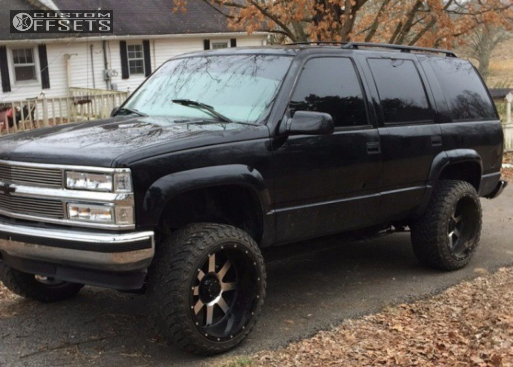 1997 gmc yukon gear alloy 726 rough country body lift 3in. Black Bedroom Furniture Sets. Home Design Ideas