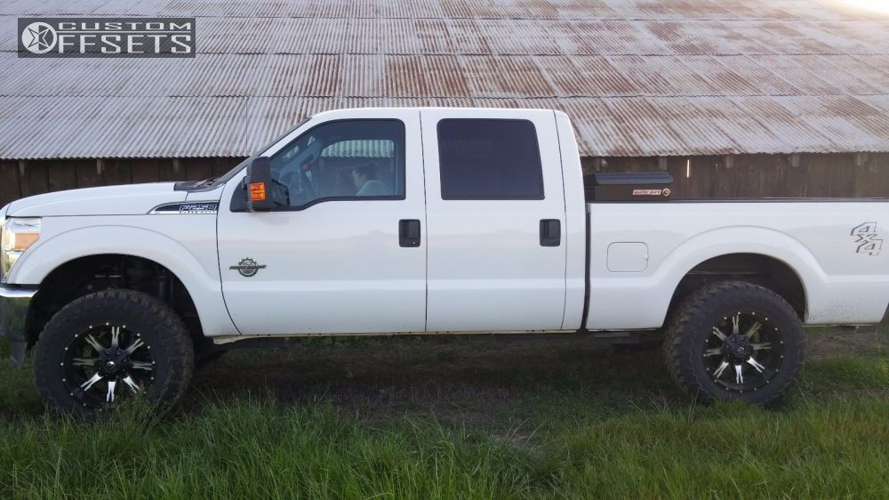 2013 ford f 250 super duty fuel nutz rough country leveling kit. Black Bedroom Furniture Sets. Home Design Ideas