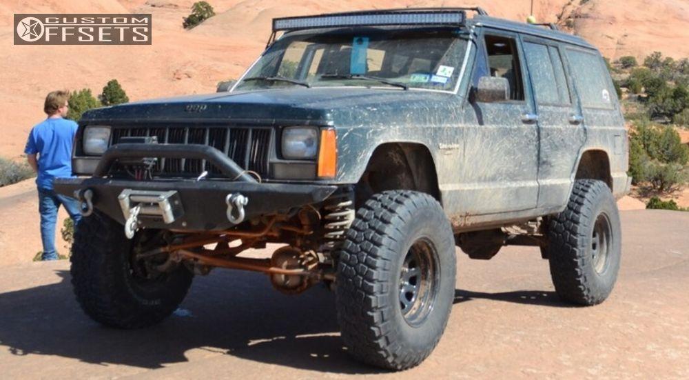 1 1992 Cherokee Jeep Suspension Lift 35 Summit D Window Black Super Aggressive 3 5