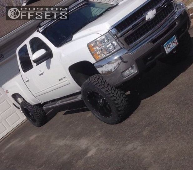 1 2010 Silverado 2500 Hd Chevrolet Suspension Lift 45 Raceline Assault Black Aggressive 1 Outside Fender