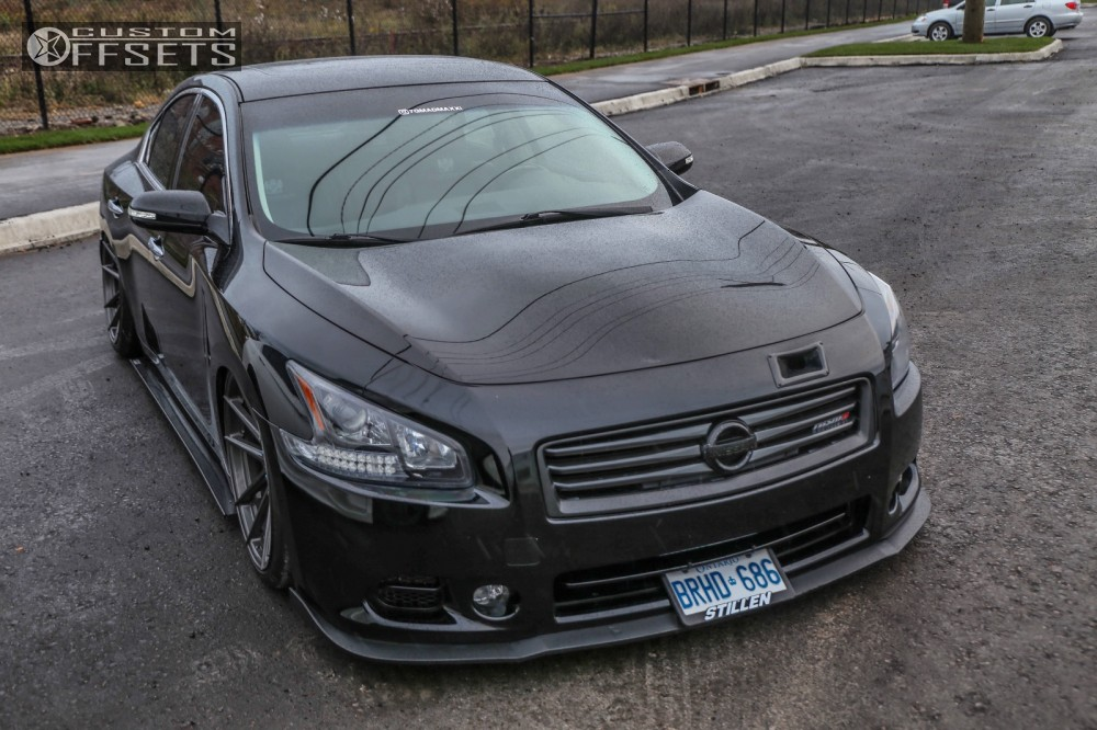 Custom Nissan Maxima >> Wheel Offset 2009 Nissan Maxima Nearly Flush Air Suspension
