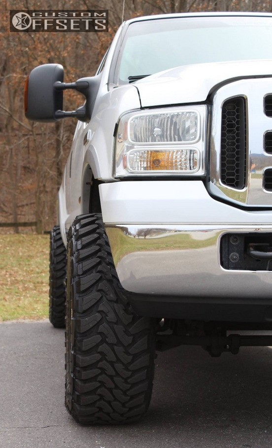 2 2005 F 250 Super Duty Ford Leveling Kit American Force Trax Ss Polished Aggressive 1 Outside Fender